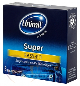 UNIMIL lateksowe SUPER EASY Fit kartonik 3 szt